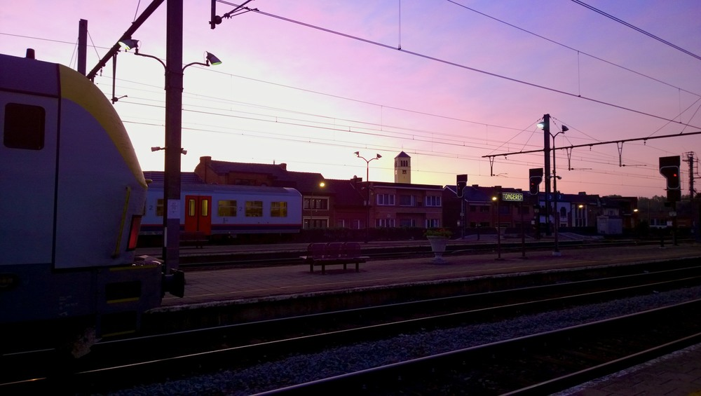Blown out sky at an early morning - Tongeren Station